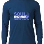 Blue Long Sleeve T Shirt -Soul Brother Logo-Medium 1