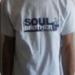 Grey T Shirt Soul Brother Logo- Large 1