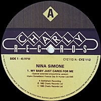 Nina Simone My Baby Just Cares For Me 12 Quot Single Music